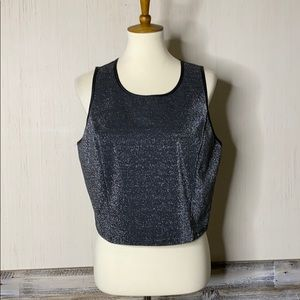 FOREVER 21 + Plus size CROPPED Tank Zippered Back